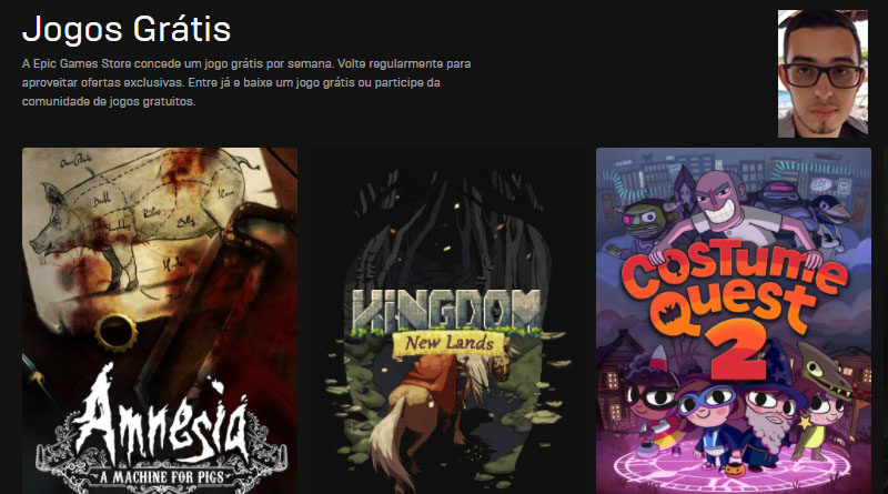 Jogos Grátis - Epic Games Store
